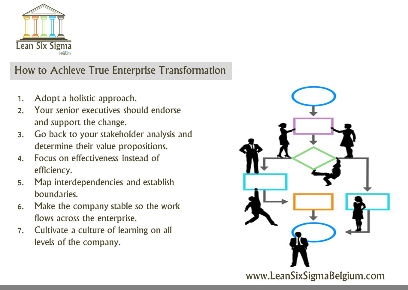 How to achieve true enterprise transformation lean six sigma belgium lean management training lean six sigma belgium ccuart Image collections