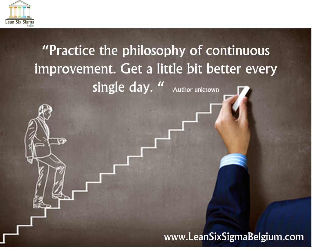 Continuous Improvement Quotes Lean Six Sigma Belgium