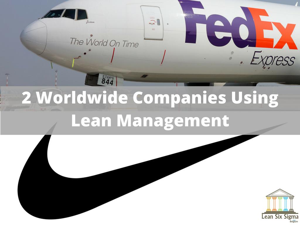 lean management worldwide companies